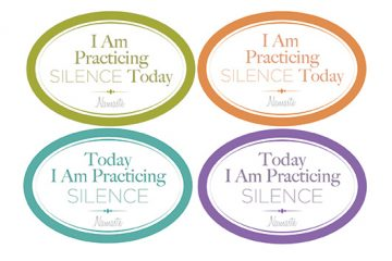 2 x 3 stickers used for practicing silence.