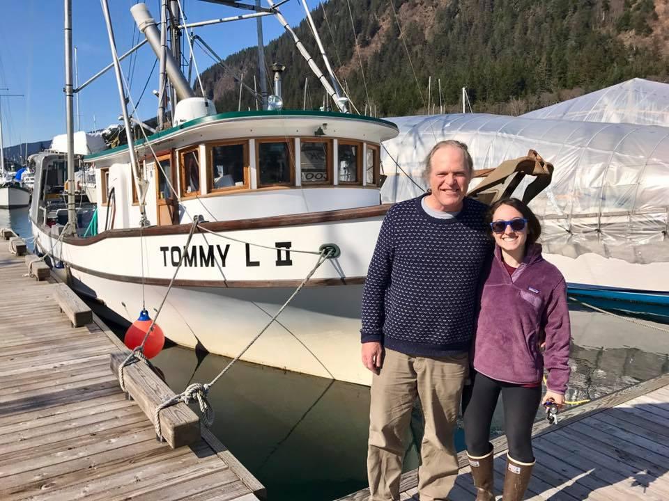 Rose and Joe in Pelican, Alaska