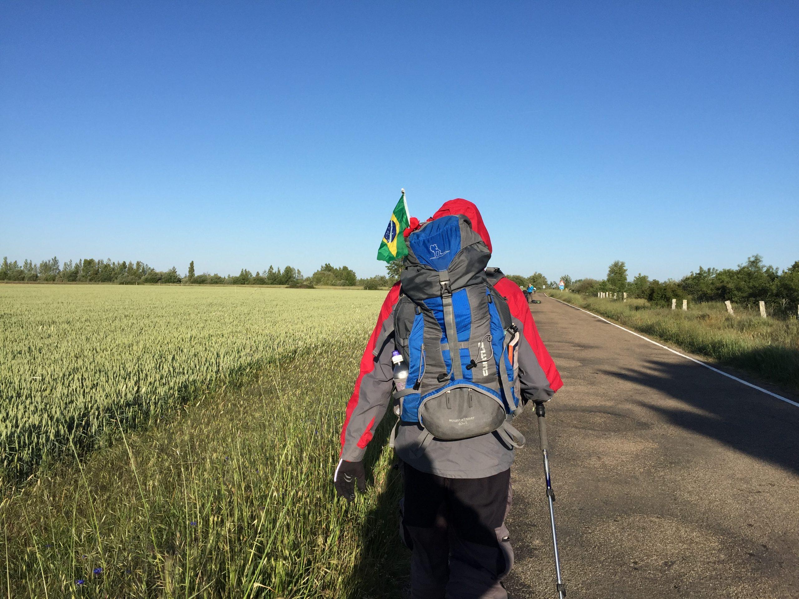 Walking to Terradillos on the Camino de Santiago